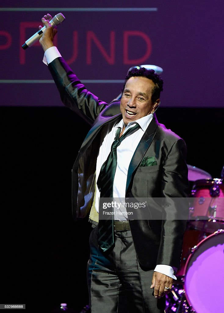 Honoree Smokey Robinson performs onstage at the 12th Annual MusiCares MAP Fund Benefit Concert Honoring Smokey Robinson at The Novo by Microsoft on May 19, 2016 in Los Angeles, California.