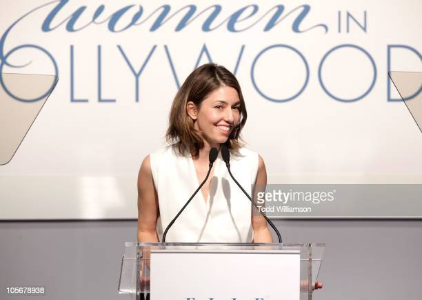 Honoree Sofia Coppola speaks onstage at ELLE's 17th Annual Women in Hollywood Tribute at The Four Seasons Hotel on October 18 2010 in Beverly Hills...