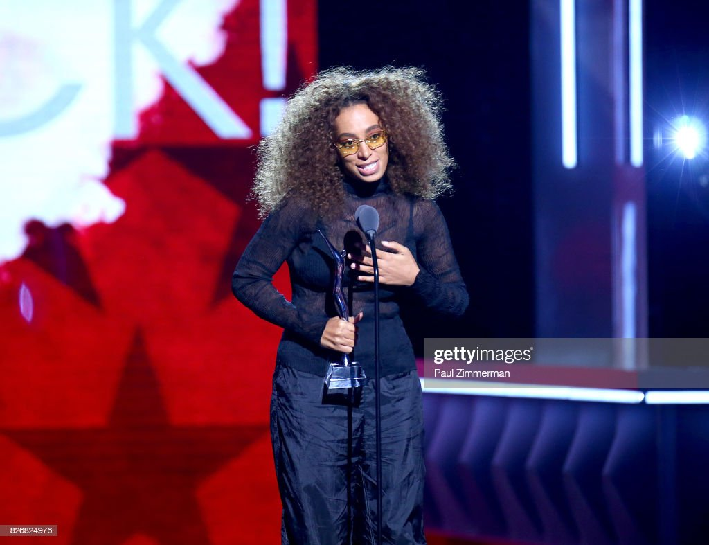 Honoree Solange Knowles speaks onstage during the 2017 Black Girls Rock! at NJPAC on August 5, 2017 in Newark, New Jersey.
