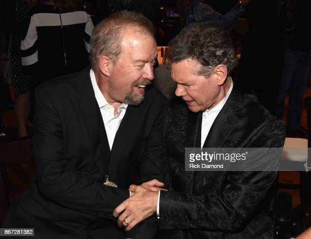 Honoree songwriter Don Schlitz and artist Randy Travis attend the Country Music Hall Of Fame And Museum Hosts Medallion Ceremony To Celebrate 2017...