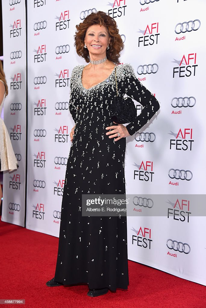 AFI FEST 2014 Presented By Audi's Special Tribute To Sophia Loren - Red Carpet