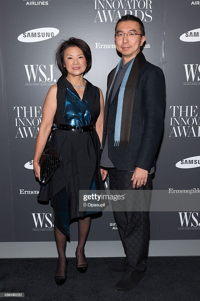 Honoree Sou Fujimoto (R) and Toshiko Mori attend WSJ. Magazine's 'Innovator Of The Year' Awards at the Museum of Modern Art on November 5, 2014 in New York City.
