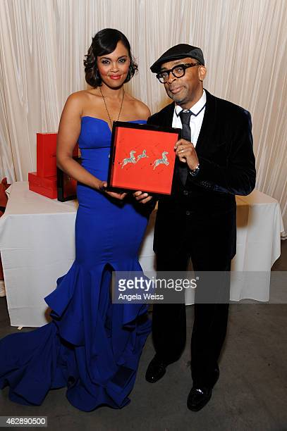 Honoree Spike Lee and actress/singer Sharon Leal attend the Backstage Creations Celebrity Retreat at 46th NAACP Image Awards at Pasadena Civic...