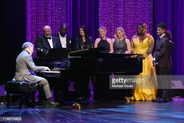 Honoree Stephen Schwartz Isaiah Johnson Idina Menzel Liz Callaway Megan Hilty Angel Blue Andrea Martin and Jordan Fisher perform onstage at the...