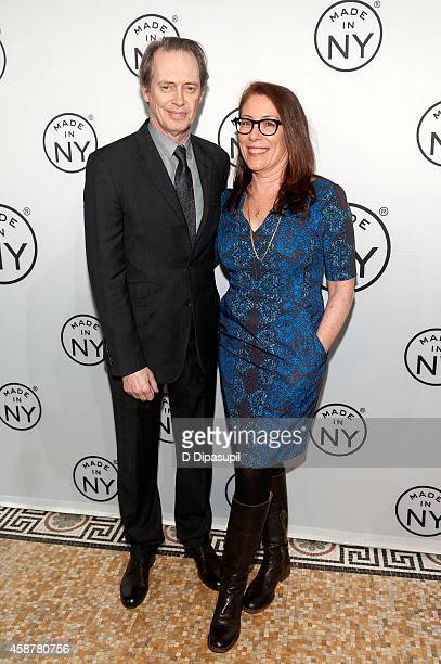 Honoree Steve Buscemi and wife Jo Andres attend the Made In NY Awards Ceremony at Weylin B Seymour's on November 10 2014 in Brooklyn New York