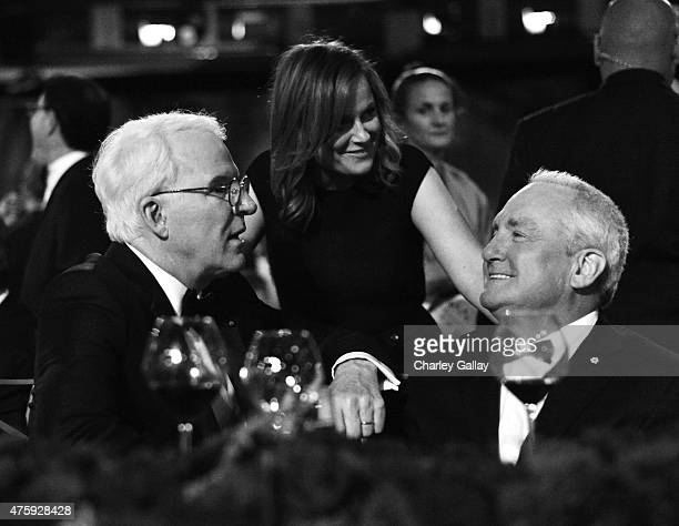 Honoree Steve Martin actress Amy Poehler and producer Lorne Michaels attend the 2015 AFI Life Achievement Award Gala Tribute Honoring Steve Martin at...