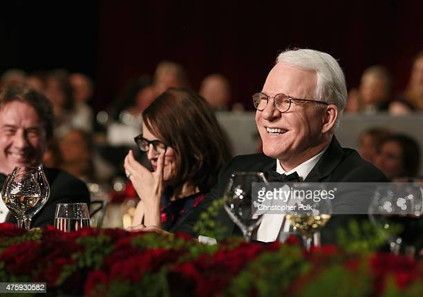 Honoree Steve Martin and wife Anne Stringfield attend the 2015 AFI Life Achievement Award Gala Tribute Honoring Steve Martin at the Dolby Theatre on...