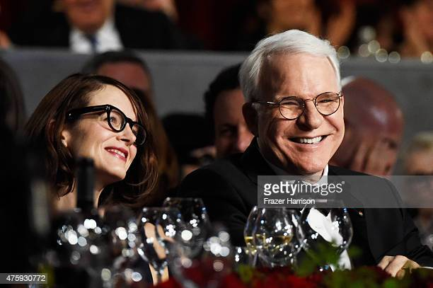 Honoree Steve Martin and wife Anne Stringfield attend the 43rd AFI Life Achievement Award Gala honoring Steve Martin at Dolby Theatre on June 4 2015...
