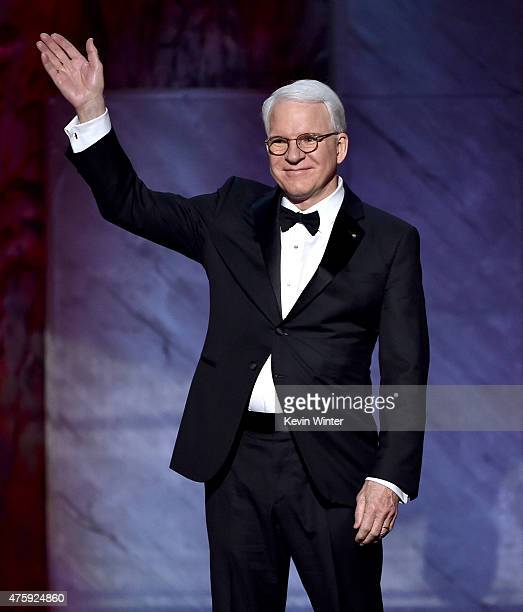 Honoree Steve Martin onstage during the 2015 AFI Life Achievement Award Gala Tribute Honoring Steve Martin at the Dolby Theatre on June 4 2015 in...