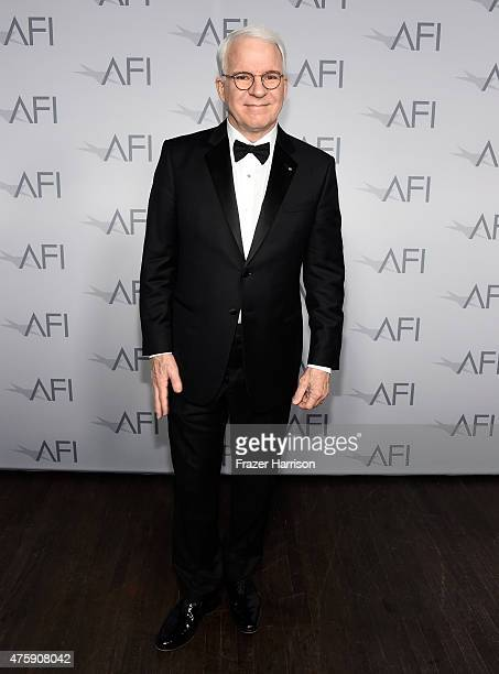 Honoree Steve Martin poses backstage during the 43rd AFI Life Achievement Award Gala honoring Steve Martin at Dolby Theatre on June 4 2015 in...