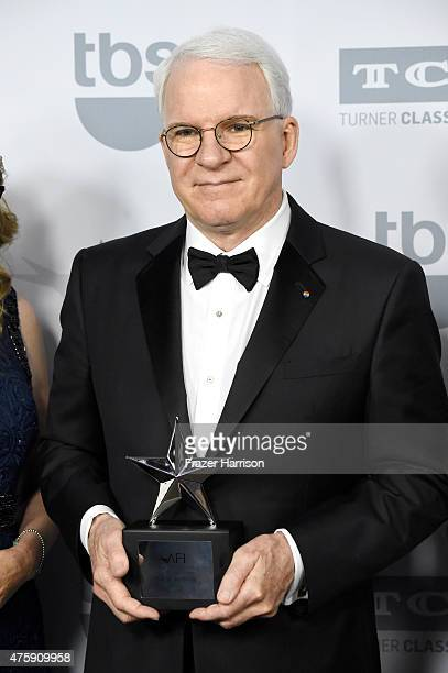 Honoree Steve Martin poses backstage during the 43rd AFI Life Achievement Award Gala honoring Steve Martin at Dolby Theatre on June 4, 2015 in...