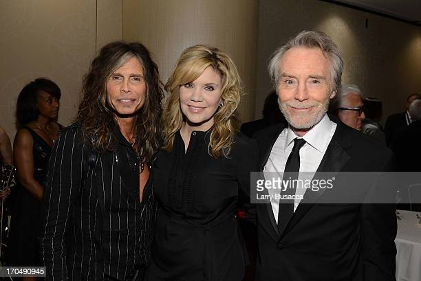 Honoree Steven Tyler Alison Krauss and Honoree J D Souther attend the Songwriters Hall of Fame 44th Annual Induction and Awards Dinner at the New...