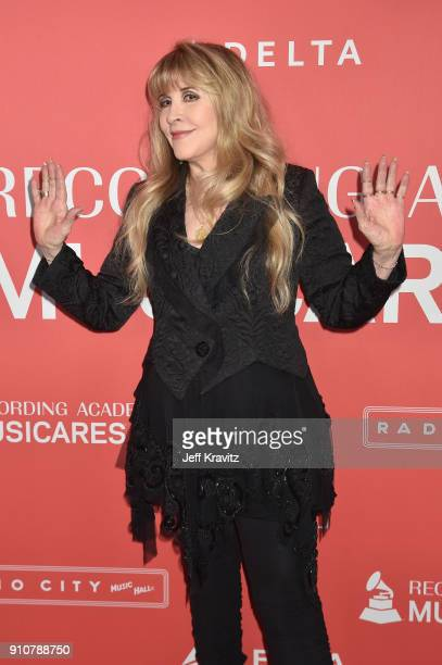 Honoree Stevie Nicks of Fleetwood Mac attends MusiCares Person of the Year honoring Fleetwood Mac at Radio City Music Hall on January 26 2018 in New...