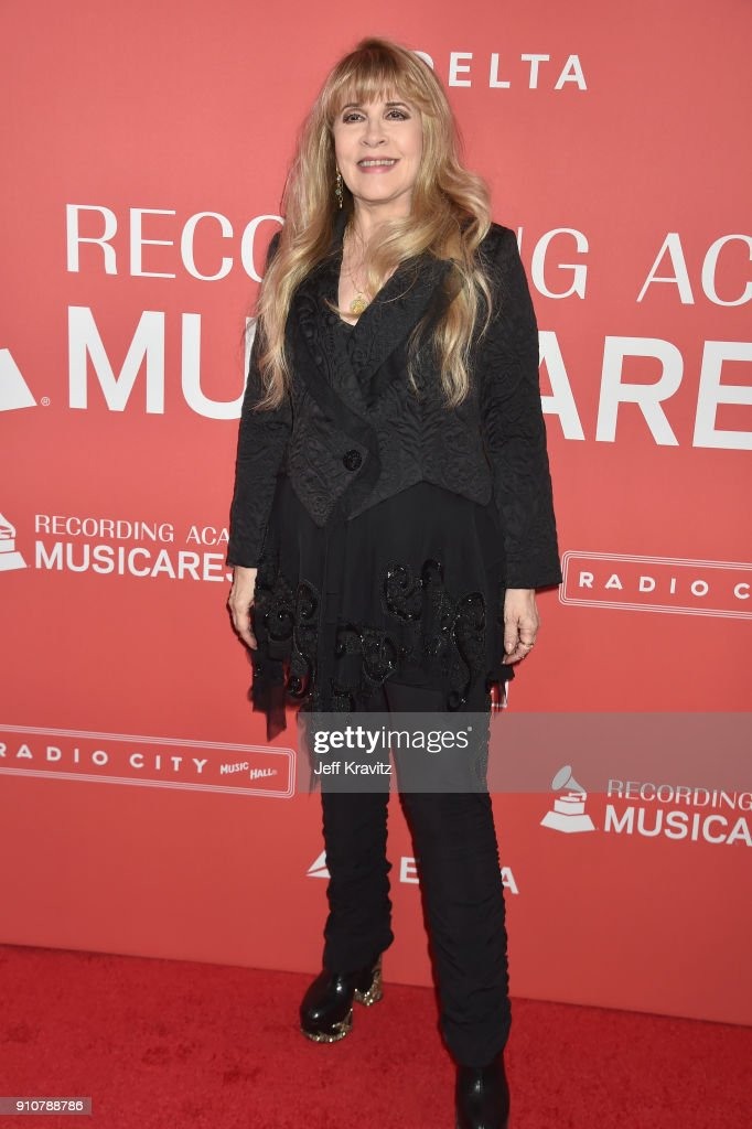 Honoree Stevie Nicks of Fleetwood Mac attends MusiCares Person of the Year honoring Fleetwood Mac at Radio City Music Hall on January 26, 2018 in New York City.