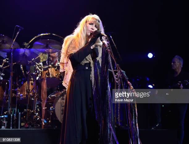 Honoree Stevie Nicks of Fleetwood Mac performs MusiCares Person of the Year honoring Fleetwood Mac at Radio City Music Hall on January 26 2018 in New...