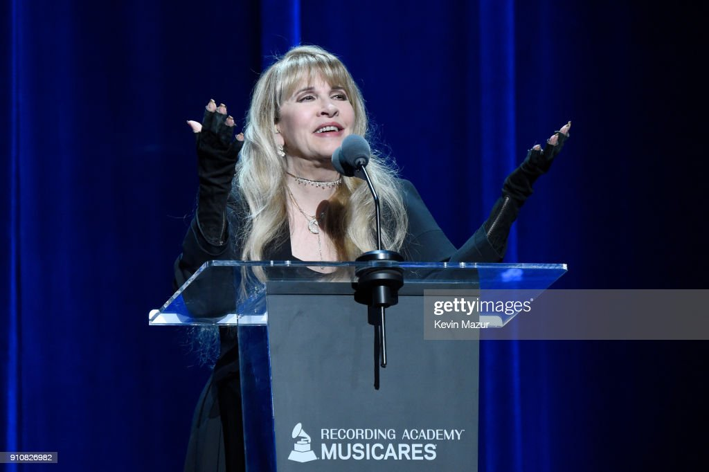 Honoree Stevie Nicks of music group Fleetwood Mac accepts the MusiCares Person of the Year award onstage during MusiCares Person of the Year honoring Fleetwood Mac at Radio City Music Hall on January 26, 2018 in New York City.