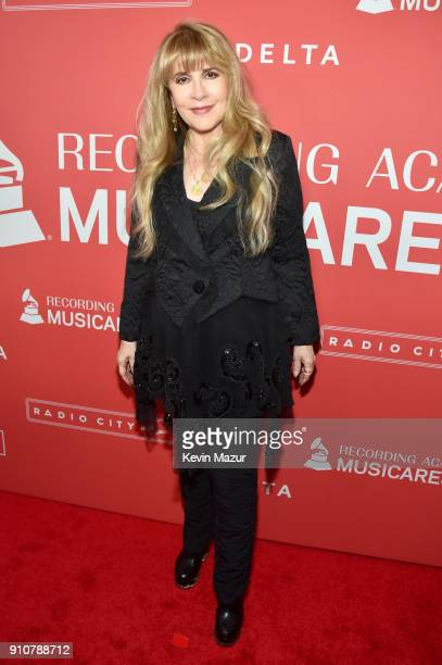 Honoree Stevie Nicks of music group Fleetwood Mac attends MusiCares Person of the Year honoring Fleetwood Mac at Radio City Music Hall on January 26...