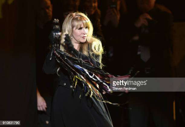 Honoree Stevie Nicks of music group Fleetwood Mac performs onstage during MusiCares Person of the Year honoring Fleetwood Mac at Radio City Music...
