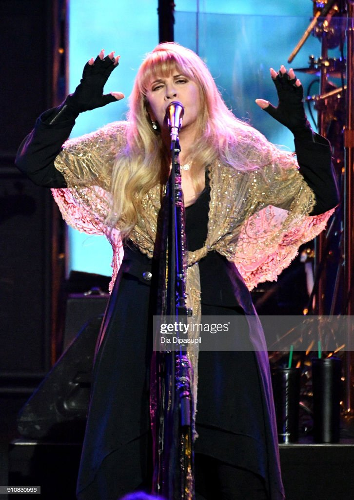 Honoree Stevie Nicks performs onstage during MusiCares Person of the Year honoring Fleetwood Mac at Radio City Music Hall on January 26, 2018 in New York City.