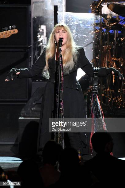 Honoree Stevie Nicks performs onstage during MusiCares Person of the Year honoring Fleetwood Mac at Radio City Music Hall on January 26 2018 in New...