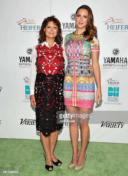 Honoree Susan Sarandon and actress Eva Amurri attend Heifer International's 2nd Annual Beyond Hunger A Place at the Table to Help End World Hunger...