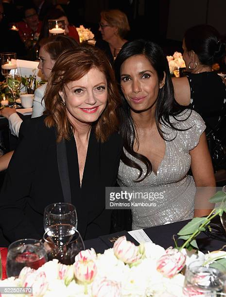 Honoree Susan Sarandon and EFA cofounder and host Padma Lakshmi attend the 8th Annual Blossom Ball benefiting the Endometriosis Foundation of America...