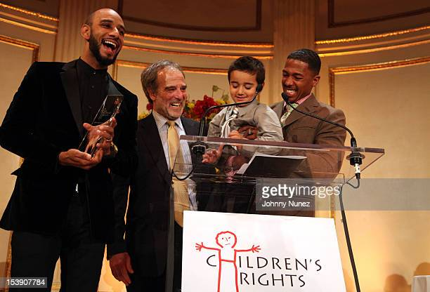 Honoree Swizz Beatz Children's Rights Organization Chair Alan C Myers Rocco Ritchie and actor Nick Cannon attend the 2012 Children's Rights Benefit...