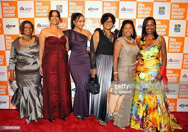 Honoree Sydney Poitier's daughters, Beverly Poitier-Henderson, Gina Poitier, Sydney Tamiia Poitier, Anika Poitier, Sherri Poitier and Pamela Poitier...