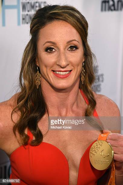 Honoree Tatyana McFadden attends Moet Chandon Celebrates The 2016 Young Women's Honors at Marina del Rey Marriott on November 19 2016 in Marina del...