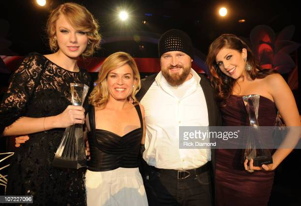 COVERAGE*** Honoree Taylor Swift Iron Chef Cat Cora and Honorees Zac Brown and Hillary Scott of Lady Antebellum at the CMT Artists of the Year at The...