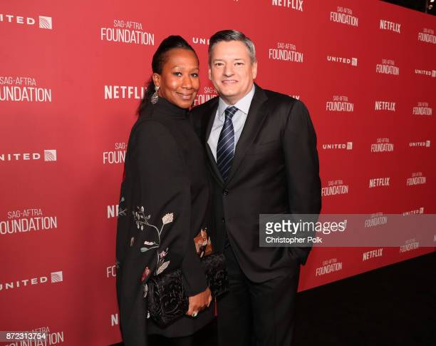 Honoree Ted Sarandos and Nicole Avant attend the SAGAFTRA Foundation Patron of the Artists Awards 2017 at the Wallis Annenberg Center for the...