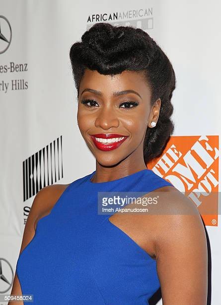 Honoree Teyonah Parris arrives at the 7th Annual AAFCA Awards on February 10 2016 in Los Angeles California