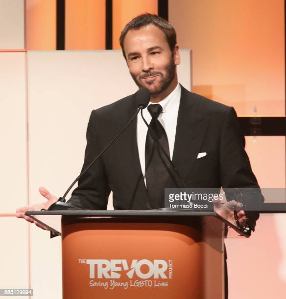 Honoree Tom Ford accepts the Hero Award onstage during The Trevor Project's 2017 TrevorLIVE LA Gala at The Beverly Hilton Hotel on December 3 2017 in...