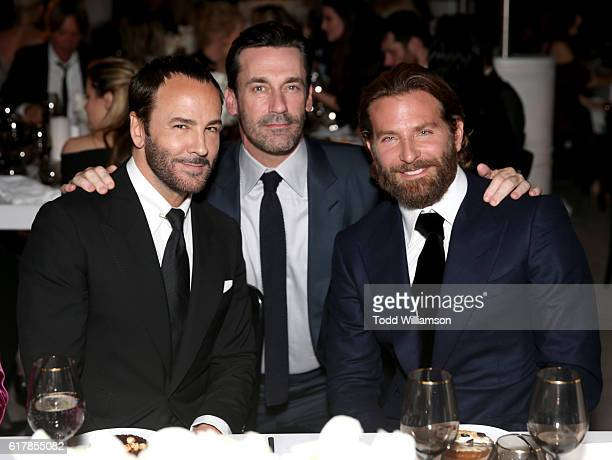 Honoree Tom Ford and actors Jon Hamm and Bradley Cooper attend the Second Annual 'InStyle Awards' presented by InStyle at Getty Center on October 24...