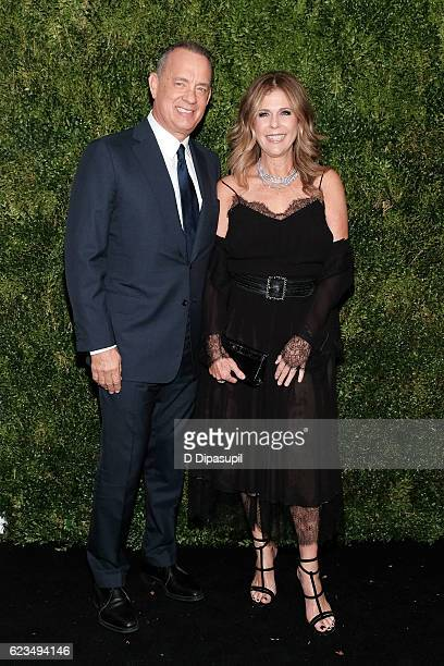 Honoree Tom Hanks and wife Rita Wilson attend the 2016 Museum of Modern Art Film Benefit presented by Chanel A Tribute to Tom Hanks at Museum of...