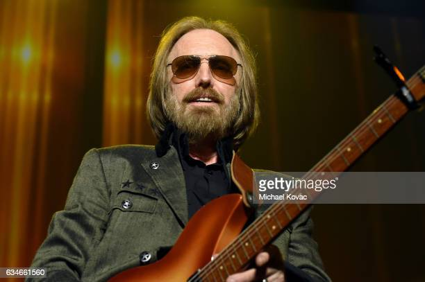 Honoree Tom Petty performs onstage during MusiCares Person of the Year honoring Tom Petty at the Los Angeles Convention Center on February 10 2017 in...
