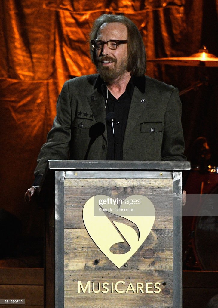 Honoree Tom Petty speaks onstage during MusiCares Person of the Year honoring Tom Petty at the Los Angeles Convention Center on February 10, 2017 in Los Angeles, California.