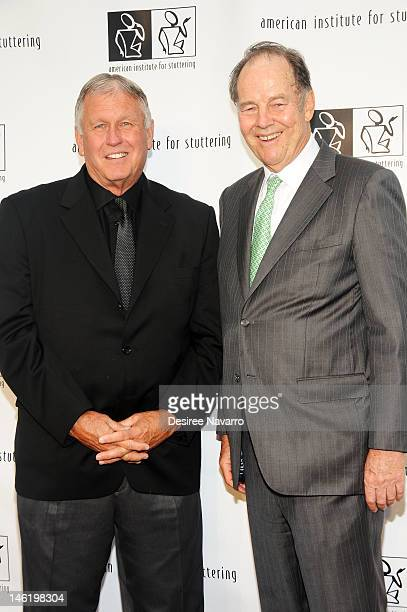 Honoree Tommy John and Former New Jersey Governor Thomas Kean attend the 6th annual Freeing Voices Changing Lives Benefit Gala at Tribeca Rooftop on...