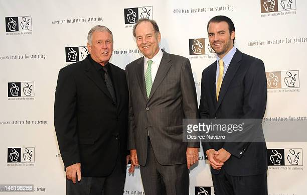 Honoree Tommy John Former New Jersey Governor Thomas Kean and Nolan Russo Jr attend the 6th annual Freeing Voices Changing Lives Benefit Gala at...
