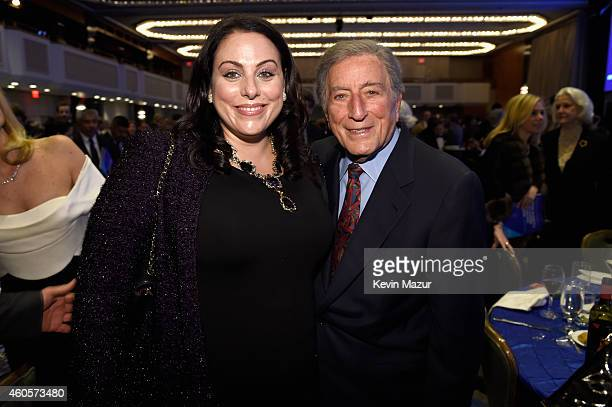 Honoree Tony Bennett and Joanna Bennett attend the RFK Ripple Of Hope Gala at Hilton Hotel Midtown on December 16 2014 in New York City