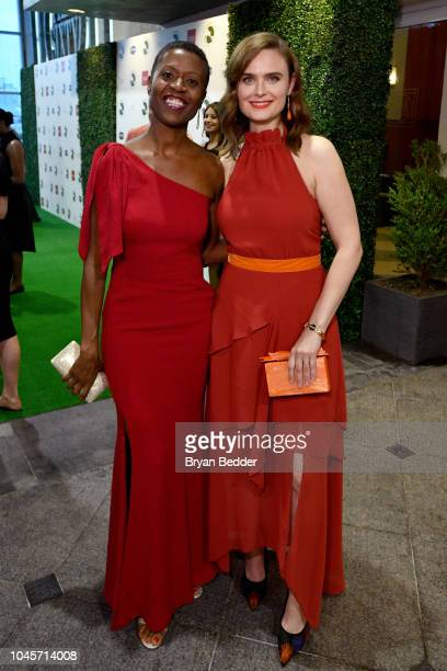 Honoree Tracye McQuirter and actor Emily Deschanel attends the 2018 Farm Sanctuary on the Hudson gala at Pier 60 on October 4 2018 in New York City