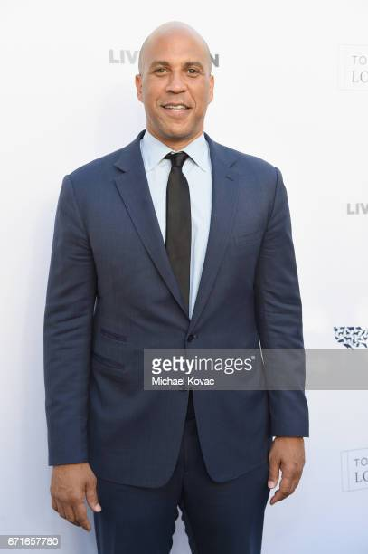 Honoree United States Senator Cory Booker at The Humane Society of the United States' To the Rescue Los Angeles Gala at Paramount Studios on April 22...