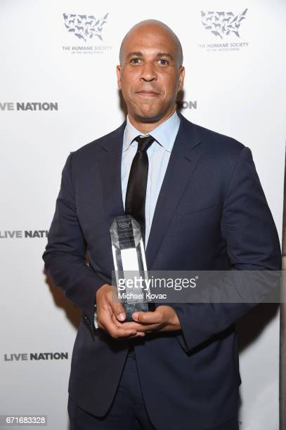 Honoree United States Senator Cory Booker recipient of the Humanitarian of the Year award at The Humane Society of the United States' To the Rescue...