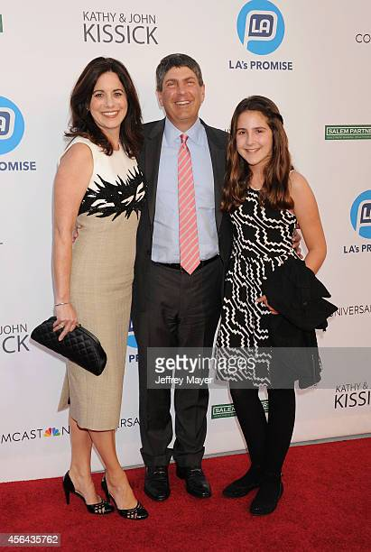 Honoree Universal Filmed Entertainment Chairman Jeff Shell wife Laura Shell and daughter Anna Shell attend the 2014 LA's Promise Gala honoring...