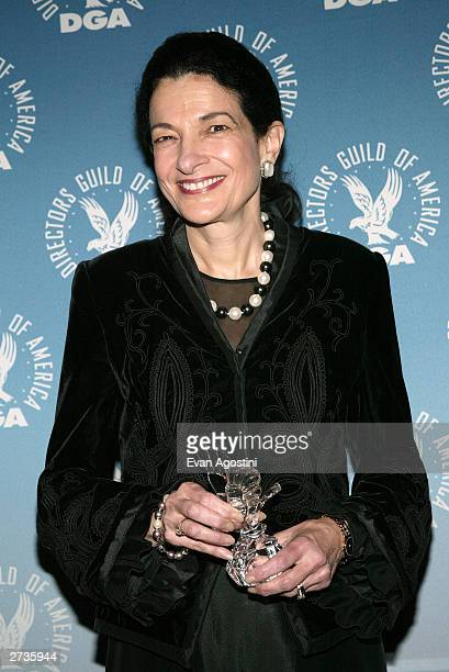 DGA honoree US Senator Olympia Snowe poses backstage at the 4th Annual Directors Guild of America Honors at the WaldorfAstoria November 16 2003 in...