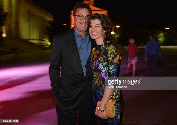 Honoree Vince Gill and Amy Grant attends the 2012 Leadership Music Dale Franklin awards at War Memorial Auditorium on October 17 2012 in Nashville...