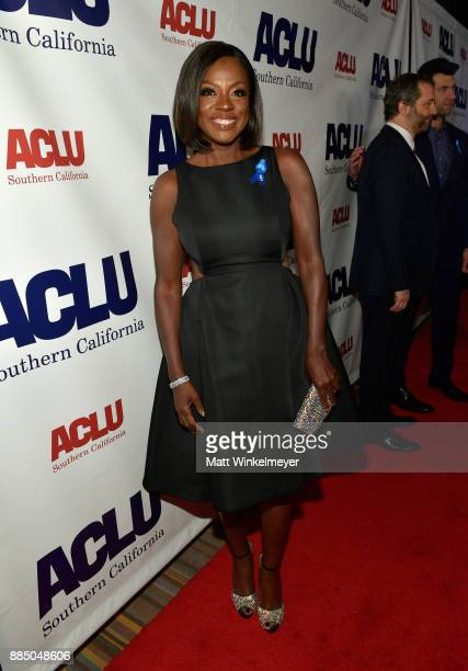 Honoree Viola Davis attends ACLU SoCal Hosts Annual Bill of Rights Dinner at the Beverly Wilshire Four Seasons Hotel on December 3 2017 in Beverly...