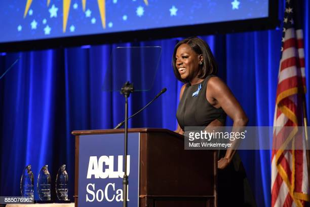 Honoree Viola Davis speaks onstage at ACLU SoCal Hosts Annual Bill of Rights Dinner at the Beverly Wilshire Four Seasons Hotel on December 3 2017 in...