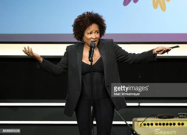 Honoree Wanda Sykes speaks onstage at Point Honors Los Angeles 2017 benefiting Point Foundation at The Beverly Hilton Hotel on October 7 2017 in...