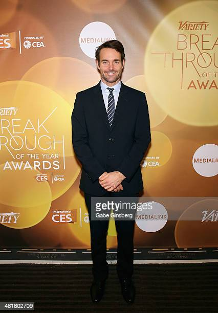 Honoree Will Forte poses backstage at the Variety Breakthrough of the Year Awards during the 2014 International CES at The Las Vegas Hotel Casino on...